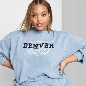 Wild Fable Denver Colorado crop sweatshirt